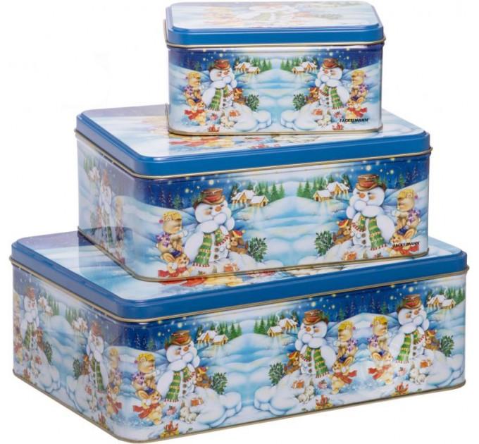 Коробки для печенья Fackelmann прямоугольные 3 шт, сталь (12268) - фото № 1