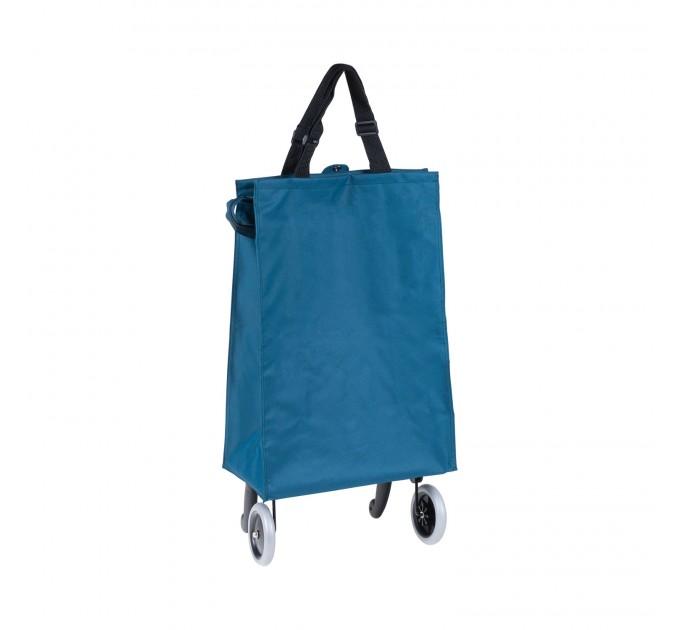 Сумка хозяйственная на колесах 38л Gimi BRAVA PLUS, синий (GM23451) - фото № 3
