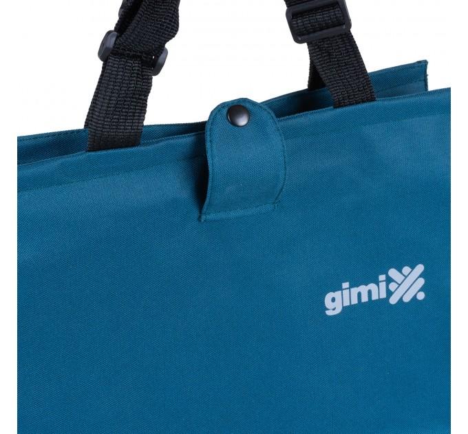 Сумка хозяйственная на колесах 38л Gimi BRAVA PLUS, синий (GM23451) - фото № 6