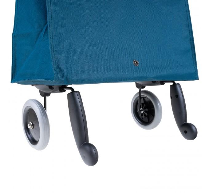 Сумка хозяйственная на колесах 38л Gimi BRAVA PLUS, синий (GM23451) - фото № 7