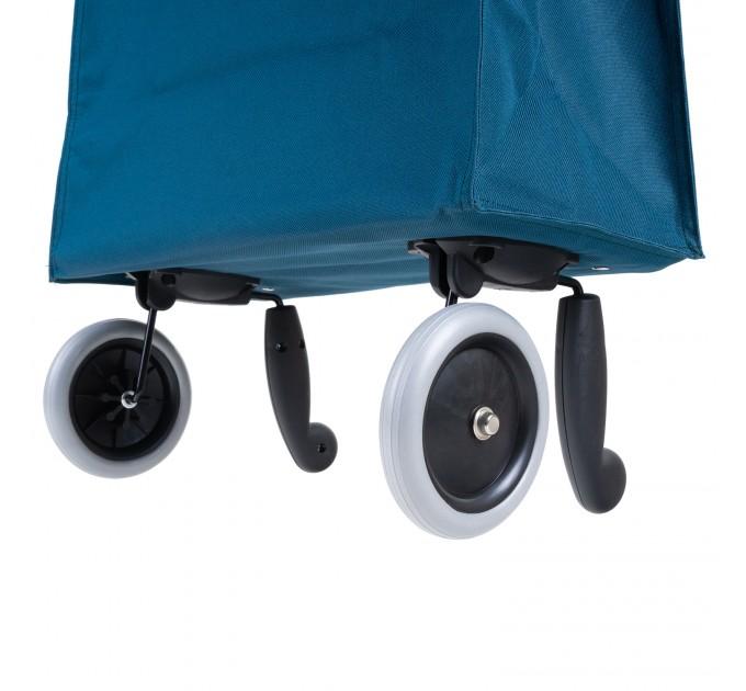 Сумка хозяйственная на колесах 38л Gimi BRAVA PLUS, синий (GM23451) - фото № 8
