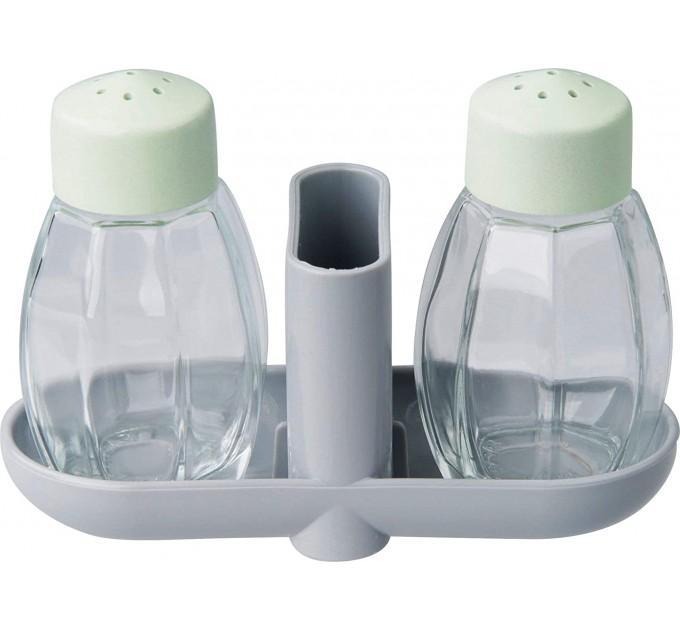 Набор для соли и перца Fackelmann ECO D7*12см, стекло/био-пластик (33040) - фото № 1