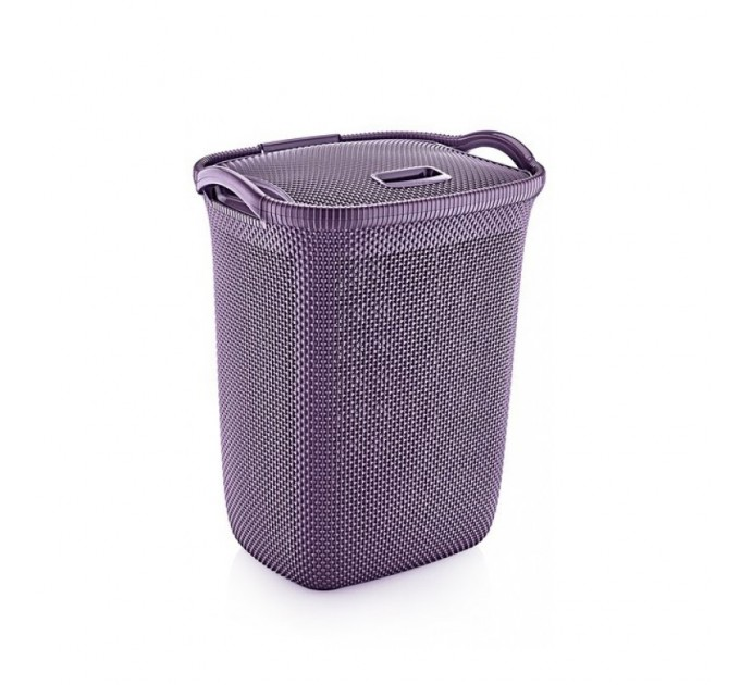 Корзина для белья OZ-ER PLastik HONEYCOMB 63л, фиолетовый (N008-X88) - фото № 1