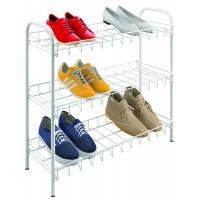 Полка для обуви 3-х уровневая 64*23*59см SHOE3 Metaltex, белый (365503)