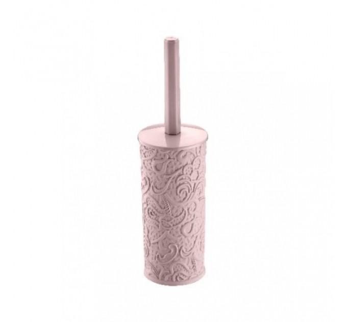 """Комплект для унитаза Elif Lux """"Ажур"""" 12*15*35см, розовый (379-3)"""