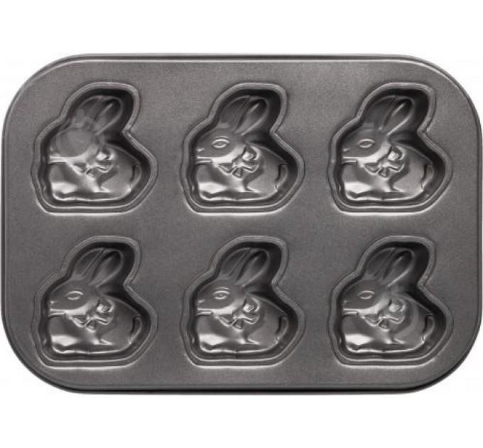 """Форма для выпечки Fackelmann """"зайчик"""" 26.5*18*2 см с антипригарным покрытием, сталь (684806) - фото № 1"""