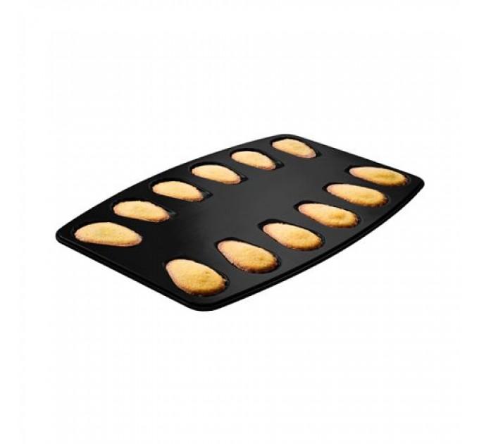"""Форма для выпечки печенья Fackelmann ZENKER """"раковина"""" 39*26 см с антипригарным покрытием, сталь (7541) - фото № 1"""
