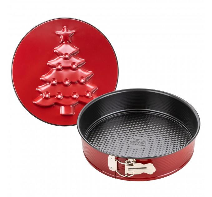 Форма для выпечки разборная Fackelmann SPARKLING CHRISTMAS с двумя крышками, 26.5*2.6 см с покрытием ILAG, сталь (6006) - фото № 1