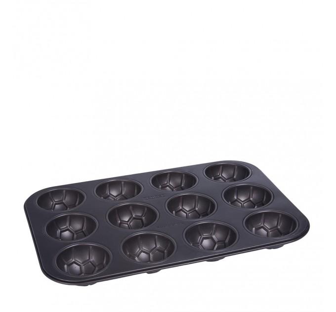 Форма для выпечки 12 маффинов Fackelmann Choco-Vanilla 38*26 см с антипригарным покрытием, сталь (7307) - фото № 1