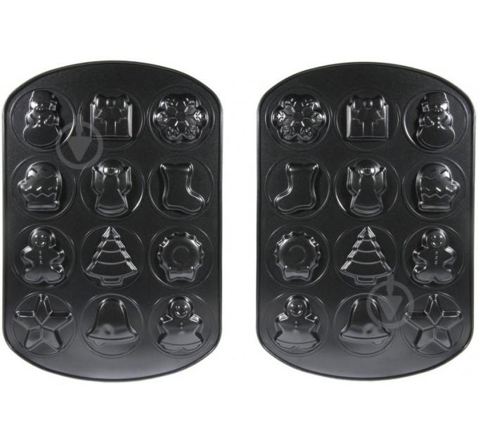 Формы для выпечки печенья Fackelmann 42*28.5*2 см и скребок, с антипригарным покрытием, сталь (687706) - фото № 1