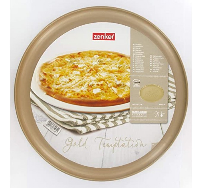 Форма для выпечки пиццы Fackelmann GOLD CHAMPAGNE D32 см с антипригарным покрытием, сталь (685561) - фото № 1