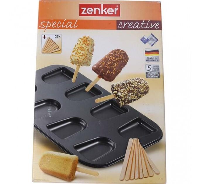 """Форма для выпечки печенья Fackelmann ZENKER """"мороженое на палочке"""" 39*27*2.5 см с антипригарным покрытием, сталь (7415) - фото № 1"""