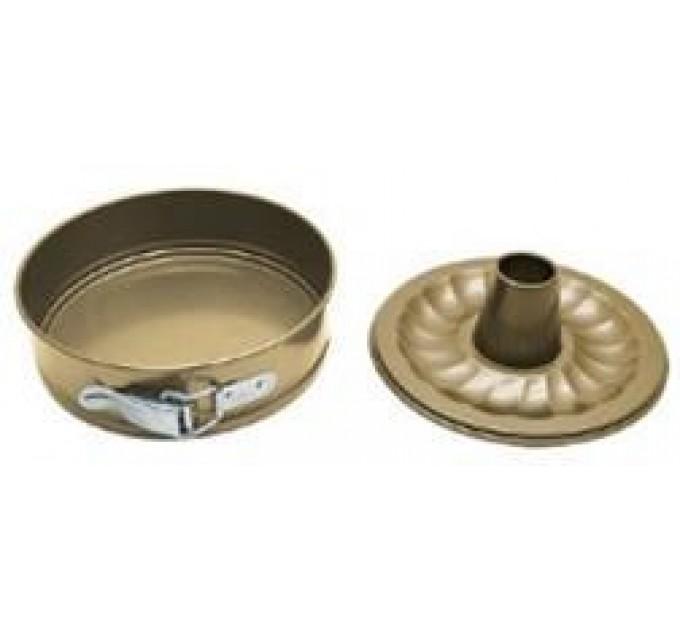 Форма для выпечки Fackelmann GOLD CHAMPAGNE разборная с крышкой D15.5см с антипригарным покрытием, сталь (685566) - фото № 1