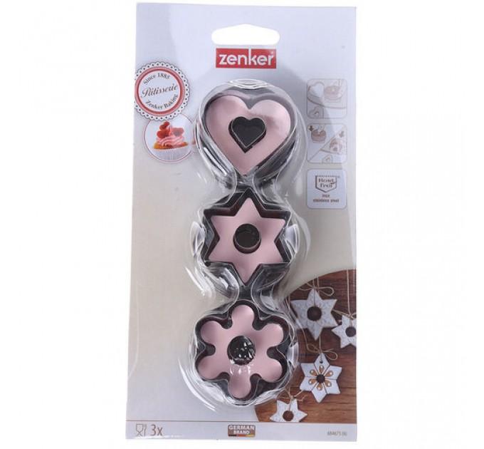 Формы штампы для вырезания печенья для влюбленных Fackelmann 3шт, сталь (684675) - фото № 1