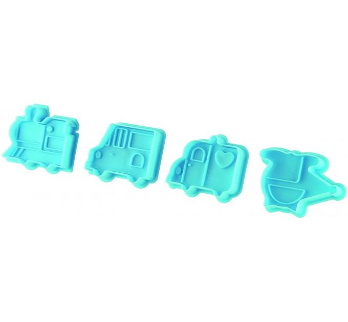 """Форма для вырезания печенья Fackelmann """"мальчик"""" со штамповкой 4 шт (42875) - фото № 1"""