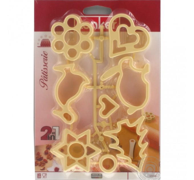 Формы для вырезания печенья Fackelmann 6шт, пластик (42938) - фото № 2
