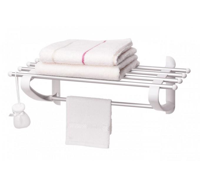Вешалка для полотенец 50 см Prima Nova, белая (B12-01) - фото № 1