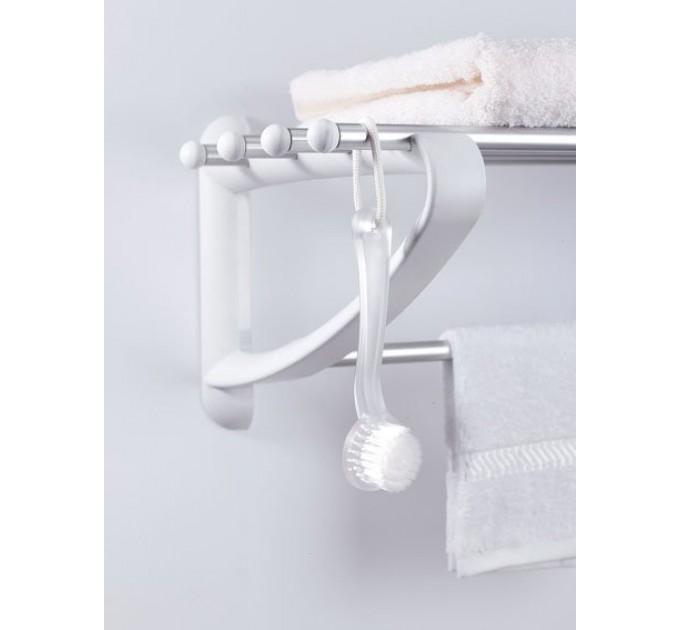 Вешалка для полотенец 50 см Prima Nova, белая (B12-01) - фото № 3