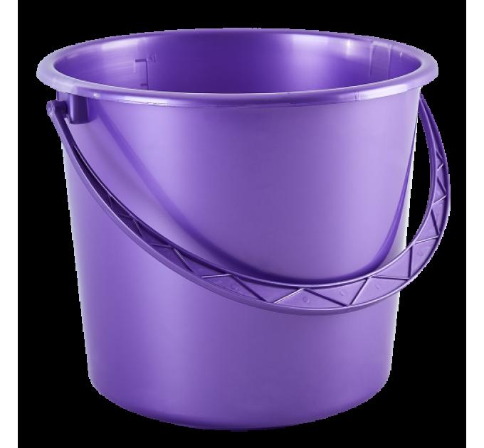 Ведро хозяйственное Алеана 14л, фиолетовый перламутр (122014) - фото № 1