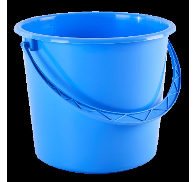 Ведро хозяйственное Алеана 10л, голубой (122010) - фото № 1