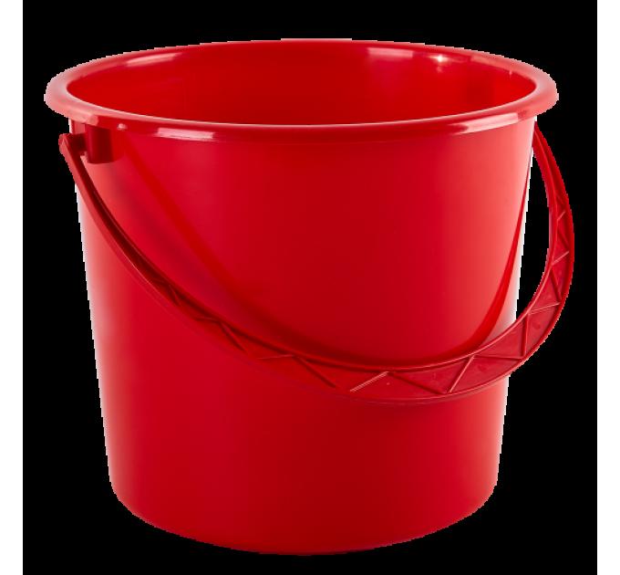 Ведро хозяйственное Алеана 14л, красный (122014) - фото № 1