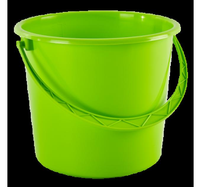 Ведро хозяйственное Алеана 10л, оливковый (122010) - фото № 1