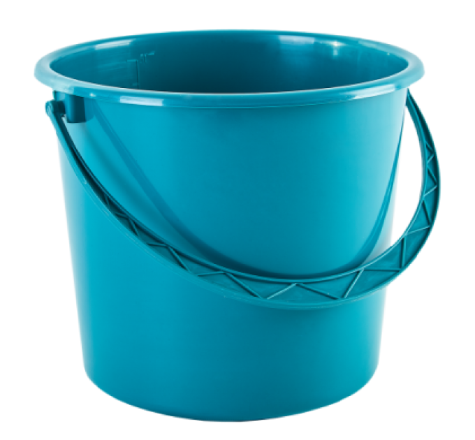 Ведро хозяйственное Алеана 8л, бирюзовый (122008) - фото № 1