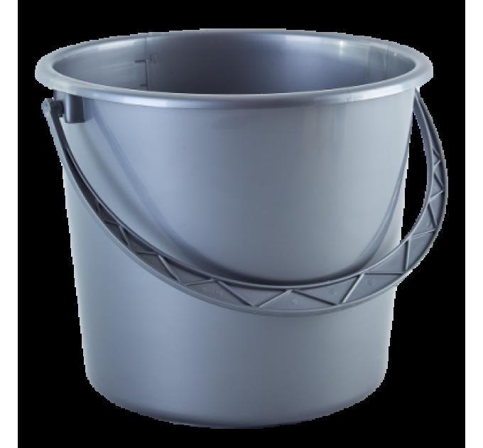 Ведро хозяйственное Алеана 10л, серый (122010) - фото № 1