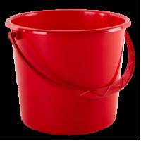Ведро хозяйственное Алеана 10л, красный (122010)