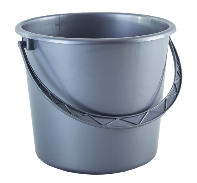Ведро хозяйственное Алеана 18л, серый (122018) - фото № 1