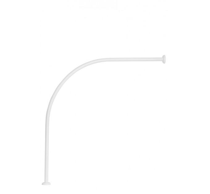 Карниз для ванной дуговой 90x90 см Probath, белый (w6100) - фото № 1