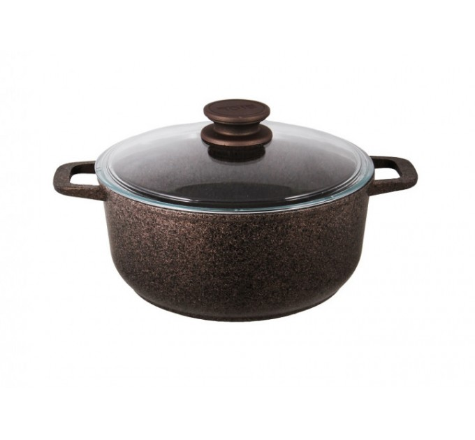 Кастрюля БИОЛ Granite Brown 3л с крышкой, индукция (K303IC) - фото № 1