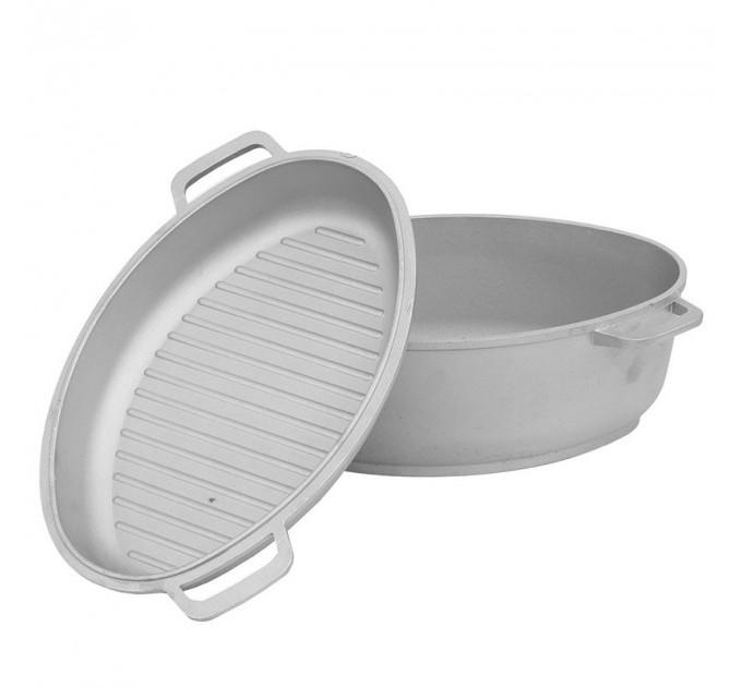 Гусятница и крышка-сковорода БИОЛ 4л (G401) - фото № 1