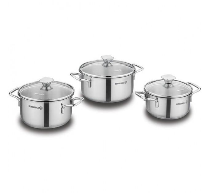 Набор посуды PIRLANTA KORKMAZ 6 предметов (A1847) - фото № 1
