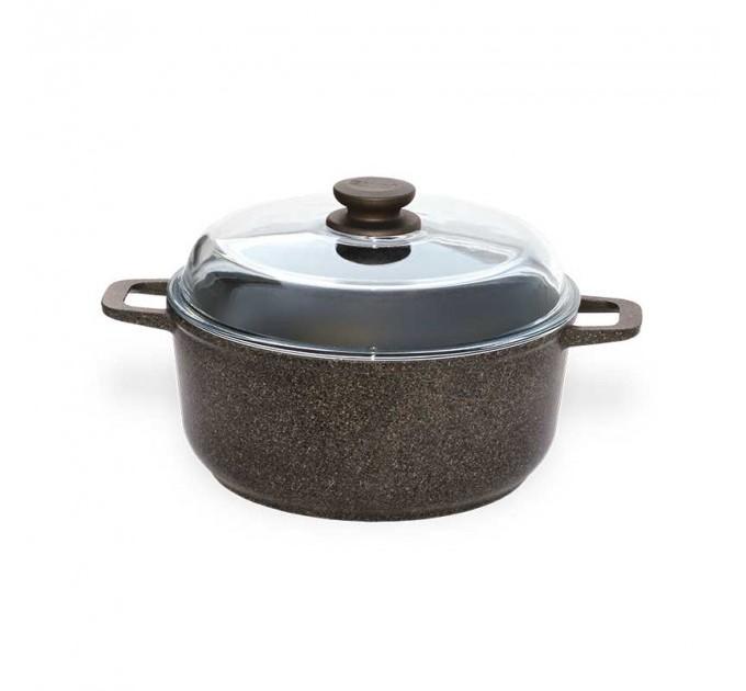 Кастрюля БИОЛ Granite Brown 5л с крышкой (K503PC) - фото № 1