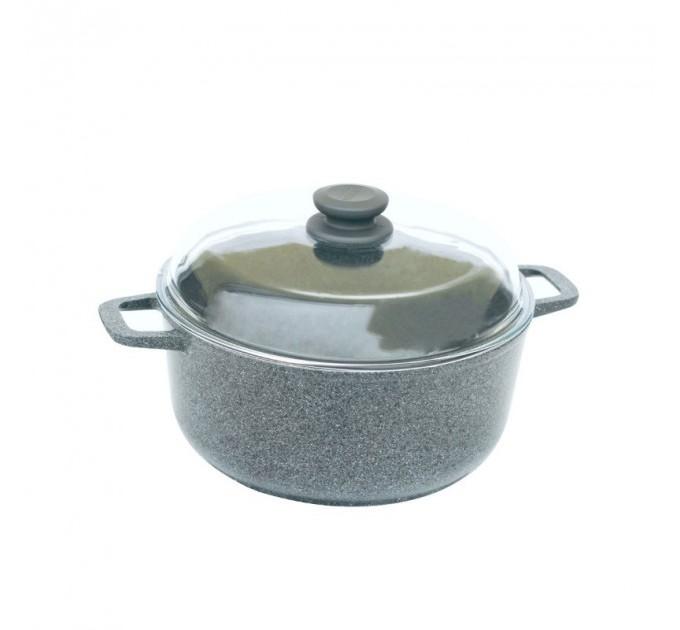 Кастрюля БИОЛ Granite Gray 3л с крышкой (K304PC) - фото № 1