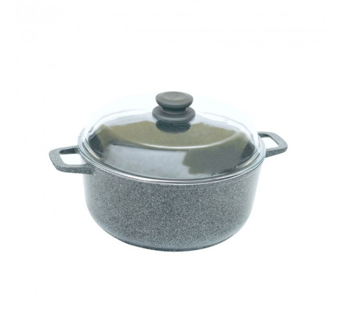 Кастрюля БИОЛ Granite Gray 5л с крышкой (K504PC) - фото № 1