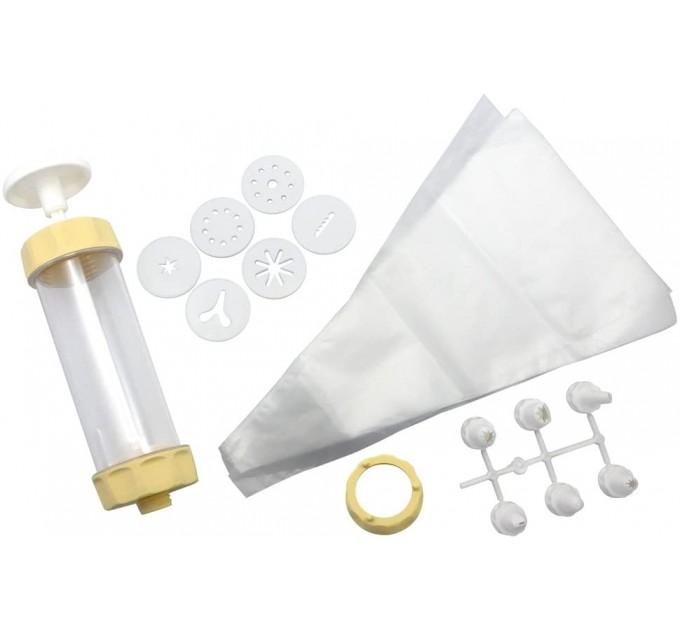 Набор кондитерский для декорирования Fackelmann (шприц, 6 дисков, 20 мешков, 5 насадок), пластик (15285) - фото № 1