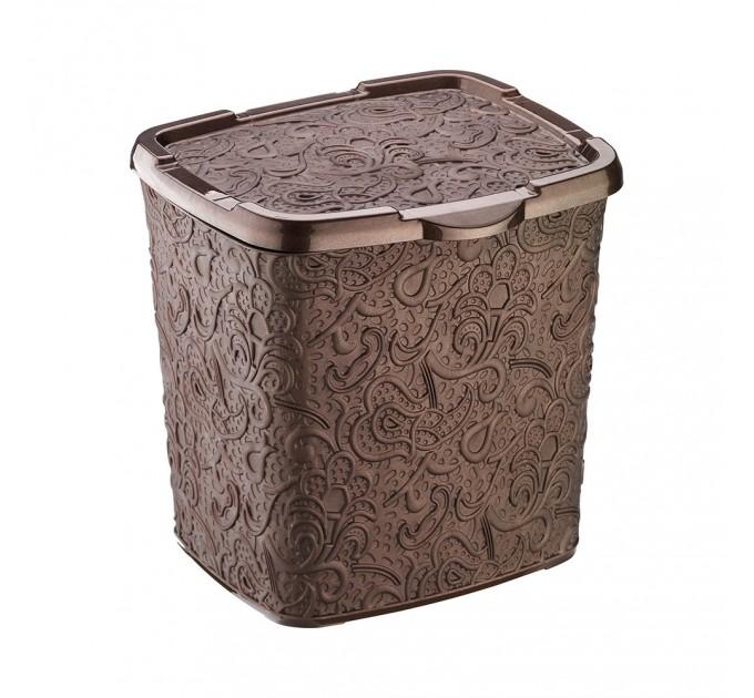 Контейнер для порошка Elif Ажур 6л, 20,5*23*23см, коричневый (383-5)