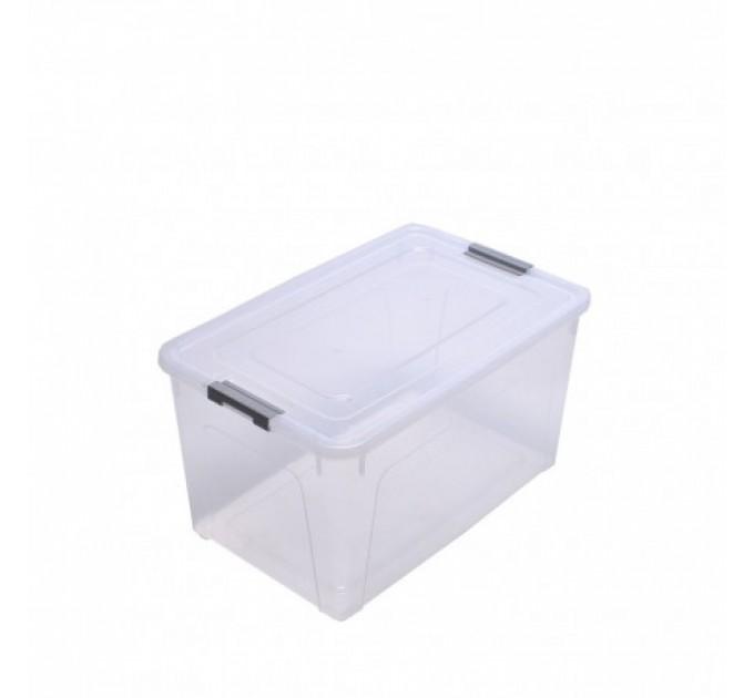 "Контейнер Алеана ""Smart Box"" 27л, прозрачный/серый (123085) - фото № 1"