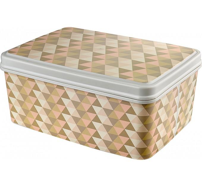 Контейнер для хранения вещей Elif 5,5л с рисунком, геометрия (505-22)