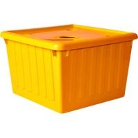 Контейнер для хранения вещей Алеана 25л, светло-оранжевый (122043)