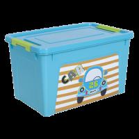 """Контейнер Алеана """"Smart Box"""" 3.5л с декором My Car, бирюзовый/оливковый (123095)"""