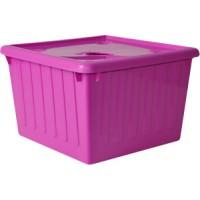 Контейнер для хранения вещей Алеана 25л, темно-розовый (122043)