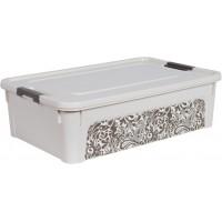 "Контейнер Алеана ""Smart Box"" 14л с декором Home, б.роза/какао (124057)"