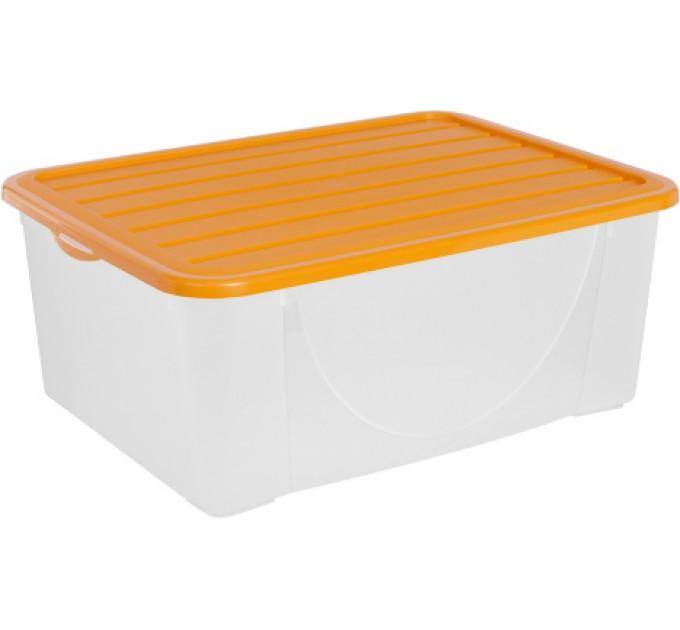 Контейнер для хранения вещей Алеана 9.6л, светло-оранжевый (122041)