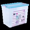 """Контейнер Алеана """"Smart Box"""" 40л с декором Pet Shop, прозрачный/бирюзовый/розовый (124049)"""