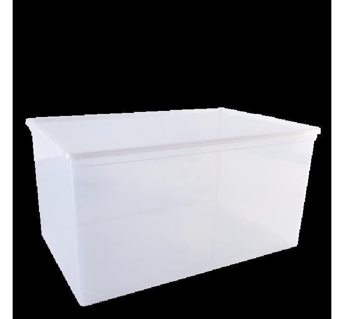"""Контейнер для хранения вещей Алеана """"Евро"""" 45л, прозрачный (122046)"""