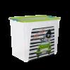 """Контейнер Алеана """"Smart Box"""" 40л с декором My Car, прозрачный/оливковый/бирюзовый (123099)"""