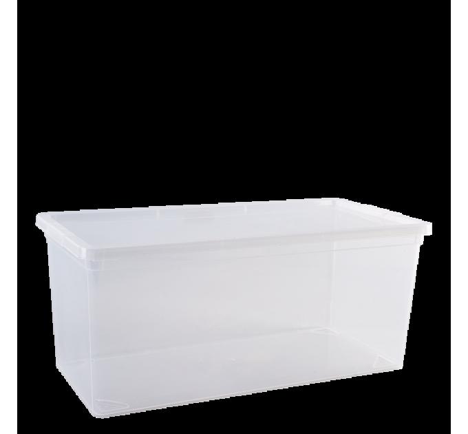 """Контейнер для хранения вещей Алеана """"Евро"""" 8л, прозрачный (122048) - фото № 1"""